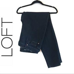 LOFT Dark Rinse Modern Skinny Jeans